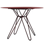 Massproductions Tio dining table, wine red
