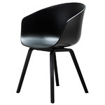 Hay About A Chair AAC22, nero - gambe nere, lacca PU
