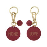 Design Letters LOVE/HOME key ring, bordeaux
