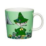Arabia Moomin mug, Snufkin, green