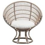 Sika-Design Luna Exterior sunchair, moccachino - white