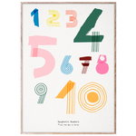 MADO Spaghetti Numbers poster, 50 x 70 cm, multicolour