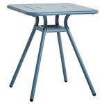 Woud Ray café table 65 cm, square, blue