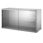 String Furniture String display cabinet, grey