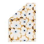 Marimekko Unikko pussilakana 150 x 210 cm, beige-valkoinen-sininen