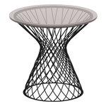 Emu Heaven coffee table 50 cm, black, glass top