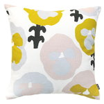 Kauniste Orvokki cushion cover, yellow