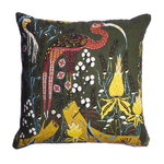 Klaus Haapaniemi Crane cushion cover, linen-cotton, green