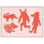 MADO Four Creatures juliste, 50 x 70 cm, punainen