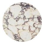 Menu Piano in marmo per tavolo Androgyne, bianco naturale