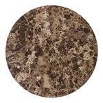 Menu Androgyne marble table top, brown