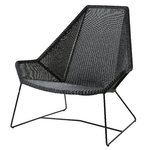 Cane-line Breeze tuoli, korkea selkänoja, musta