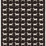 Marimekko Musta Tamma pinnoitettu kangas, ruskea