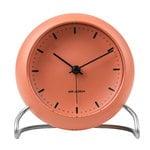 Arne Jacobsen AJ City Hall table clock with alarm, pale orange