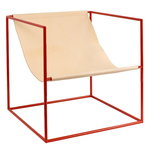 Valerie Objects Solo Seat lounge chair, red - leather