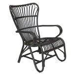 Parolan Rottinki Vintage tuoli, musta