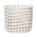 Ferm Living Ceramic basket, large, off-white