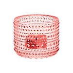 Iittala Kastehelmi kynttilälyhty 64 mm, lohenpunainen