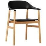 Normann Copenhagen Herit tuoli käsinojilla, tammi - musta