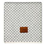 Langø Drops blanket, wool, light grey-white