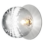 Nuura Liila 1 wall/ceiling lamp, large, silver - clear