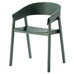 Muuto Cover armchair, green, PU lacquer