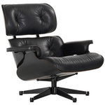 Vitra Eames Lounge Chair, classic size, black ash - black leather