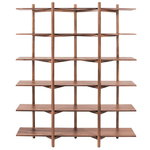 Hem Zig Zag high shelf, walnut