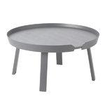 Muuto Around coffee table, large, dark grey