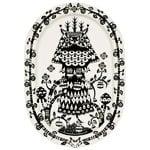 Iittala Taika serving plate 41 cm, black