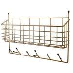 Maze Mitten Shelf, brass