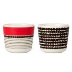 Marimekko Oiva - Siirtolapuutarha Räsymatto egg cup, set of 2