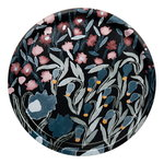 Marimekko Louhi tray, black - blue - red