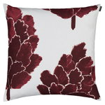 Marimekko Käpykukka cushion cover 50 x 50 cm, light grey - wine red
