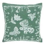 Lapuan Kankurit Aamos cushion cover 45 x 45 cm, white - aspen green