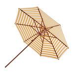 Skagerak Messina parasol ø 270 cm, striped, gold - white