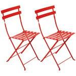 Fermob Bistro Metal tuoli, 2 kpl, poppy