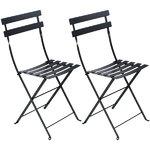 Fermob Bistro Metal chair, 2 pcs, liquorice