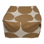 Marimekko Kivet seat cover for Puffi pouf, cotton - beige