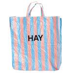 Hay Candy Stripe ostoskassi, XL, sininen - oranssi