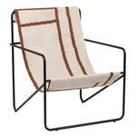 Ferm Living Desert lounge chair, black - shapes