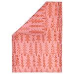 Marimekko Kuusikossa pussilakana 150 x 210 cm, vaaleanpunainen - punainen