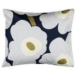 Marimekko Unikko pillowcase 50 x 60 cm, navy - light grey