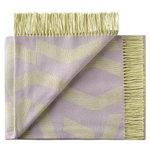 Silkeborg Uldspinderi Dashes throw, lilac - yellow