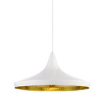 Tom Dixon Beat Light Wide valaisin, valkoinen