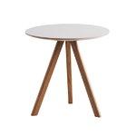 Hay CPH20 pyöreä pöytä 50 cm, lakattu tammi - harmaa lino