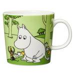 Arabia Moomin mug, Moomintroll, grass green
