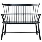FDB Møbler J52D bench, black