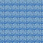 Marimekko Mini Unikko fabric, white - blue
