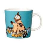 Arabia Moomin mug, Mymble's mother, turquoise